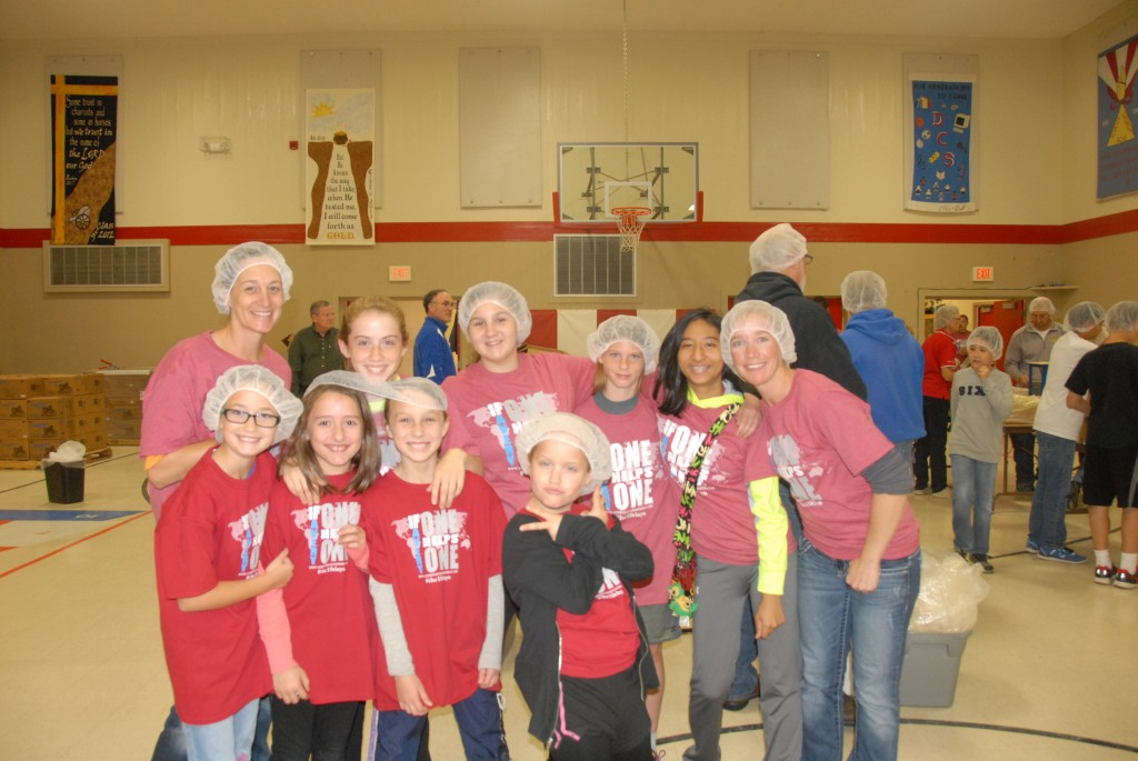 We have already had a small taste of the great things that can be done together as a community... Pictured are members of youth groups, service clubs and Girl Scouts - working together at a similar event opportunity in Delavan a few weeks ago.